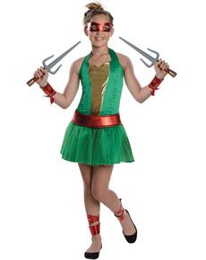Kostium Raphael Wojownicze Zólwie Ninja dla dziewczynki