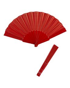 Czerwony wachlarz z materiału