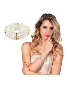 Bransoletka z białymi perłami damska