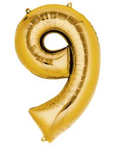 Balon złoty numer 9